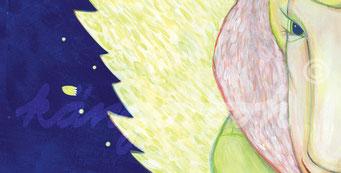 """Postkarte """"weihnachtsmann & engelin"""" / Detail 1 /kängorooh/ 2016"""