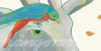 Postkarte Detail: Ziege Elise / kängorooh / 2018