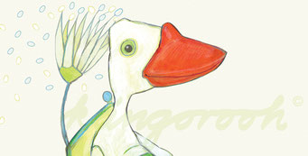 "Postkarte ""die freunde"" / Detail 1 /Carla Graupe / 2016"