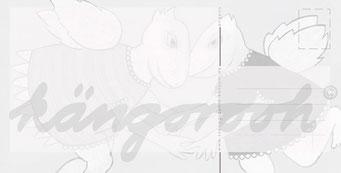 "Postkarte ""der engel"" / Detail 2 /kängorooh/ 2016"