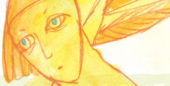 """Postkarte """"engel"""" / Detail 1 /kängorooh/ 2016"""