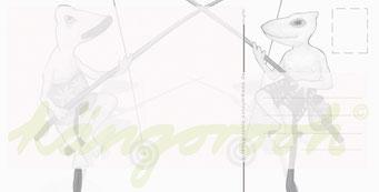 "Postkarte ""die angler"" / Detail 2 /kängorooh/ 2016"