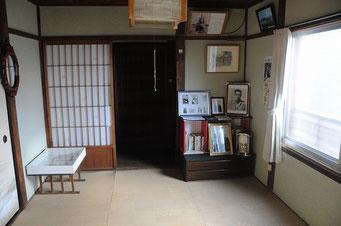 三島由紀夫さんが「潮騒」を書いた寺田邸2階の部屋。