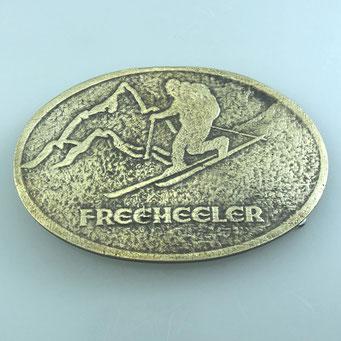 Gürtelschnalle (Beltbuckle) für Wechselgürtel, individuell in Handarbeit angefertigt nach Wunsch der Kundin als Geschenk für Ihren Mann. nachguss.de