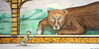 Papa Bär und das Kätzchen