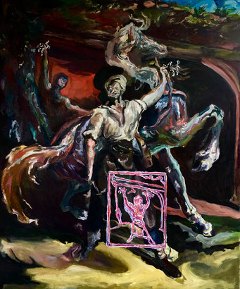 Termoclino Géricault (insegna di maniscalco) oil on canvas cm 102x122, 2017