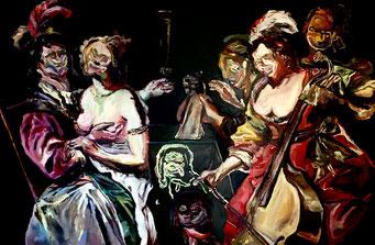 Termoclino Baeck (il figliol prodigo) oil on canvas cm 184x122,5, 2017