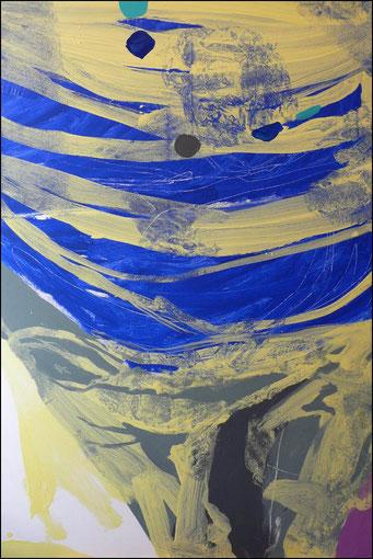 12. acrylique sur toile, 130 x 89 cm.