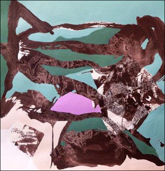 10. acrylique sur papier, 40 x 40 cm.