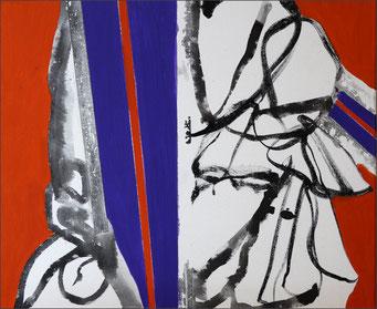 3. encre de chine et acrylique sur toile, 55 x 46 cm.