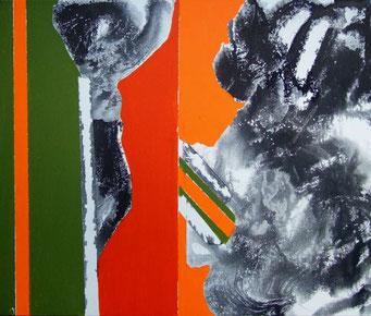 1. encre de chine et acrylique sur toile, 55 x 46 cm.