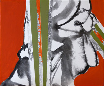 4. encre de chine et acrylique sur toile, 55 x 46 cm.
