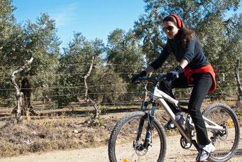 Ruta en bici con Sandra
