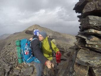 Llegada al Cerro de los Machos