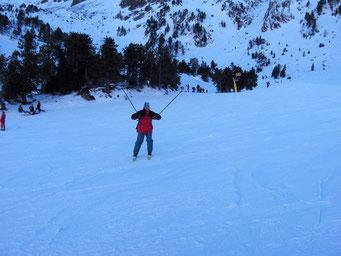 Esquiando en Andorra