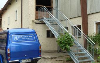 Bauschlosserei für Treppen, Geländer, Balkone, Carports u.v.m. bei Duran Wagner - Metallbau und Schlosser Würzburg, Kitzingen, Ochsenfurt und Umgebung