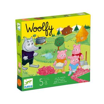 """Woolfy, édité par Djeco, basé sur le conte """"Les trois petits cochons"""""""
