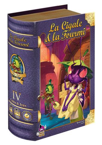 La cigale & la fourmi, édité par Purple Brain, basé sur la fable de La Fontaine