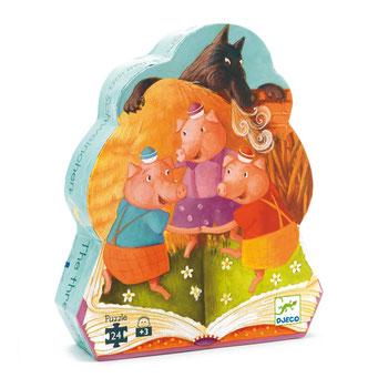 """Puzzle """"Les trois petits cochons"""", édité par Djeco, basé sur le conte"""