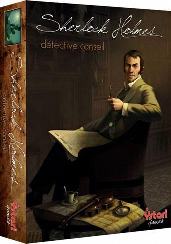 Sherlock Holmes Détective Conseil, édité par Ystari, basé sur les romans de Sherlock Holmes