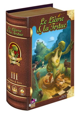 Le lièvre & la tortue, édité par Purple Brain, basé sur la fable de La Fontaine