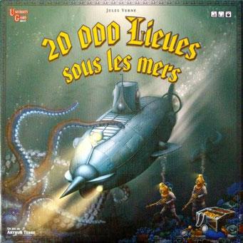 20000 lieues sous les mers, édité par University Games, basé sur le roman de Jules Verne