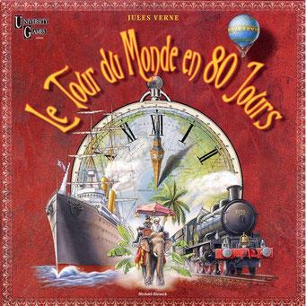 Le tour du monde en 80 jours, édité par Université Games, basé sur le roman Jules Verne