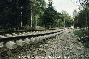 oberhalb Lauenstein am Einfahrvorsignal
