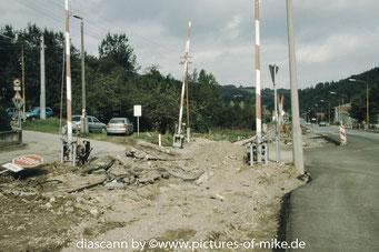 Schlottwitz, Bahnhofeinfahrt aus Richtung Glashütte