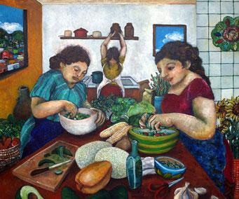 グアナファトの朝食 : F20 Canvas 2010
