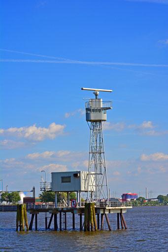 Radarstation am leitdamm in Höhe Övelgönne