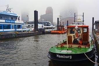Hafen im Nebel am 07.02.2015