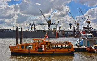Blick auf die Docks 10 u. 11