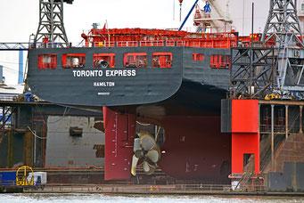 Schiffspropeller von TORONTO EXPRESS im DOCK 10