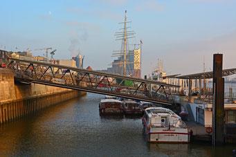 St. Pauli Landungsbrücken im Dezember 2014