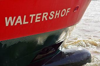 Die grosse Nase der HADAG-Fähre WALTERSHOF