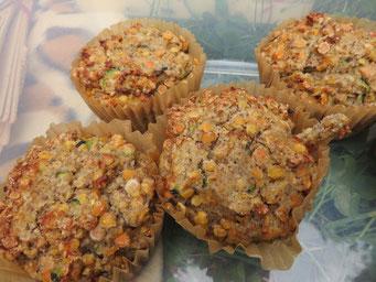 Linsen-Zucchini-Muffins (glutenfrei)
