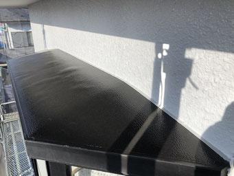 外壁塗装 窓上 塗装工事完了後