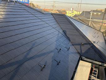 大屋根コロニアル屋根 塗装工事完了後