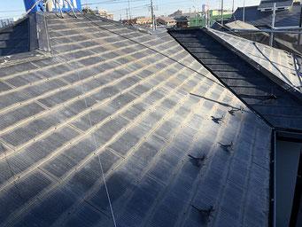 大屋根コロニアル屋根 塗装工事前
