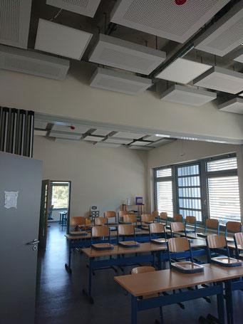 Projekt in Solingen: Raumakustische Maßnahmen in einem Anbau einer Grundschule.