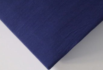 Spannbettlaken mit hohem Seitensteg in Farbe navy aus 100% reiner Baumwolle