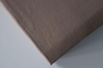 Spannbettlaken mit hohem Seitensteg in Farbe nougat aus 100% reiner Baumwolle