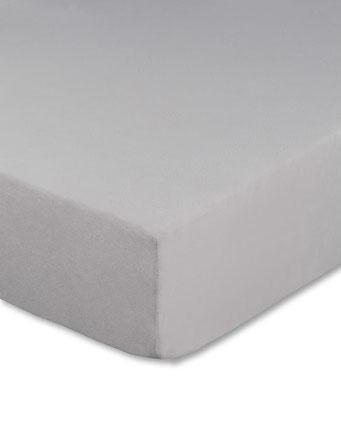 Spannbettlaken mit hohem Seitensteg in Farbe silber