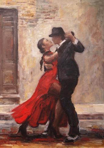 Tango Nr.3   Öl_Lwd.50x70cm