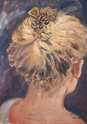 The New Hairclip, Öl_Lwd.50x70cm
