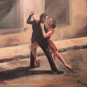 Tango Nr. 4  Öl_Lwd.80x80cm