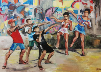 Dancing In The Street  70x100cm