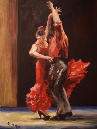 Flamenco , Öl_Lwd.60x80cm