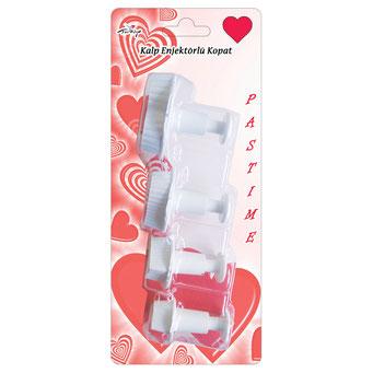 RP10108 - Tırtıklı Kalp 4'lü Büyük Boy Enjektörlü Kopat